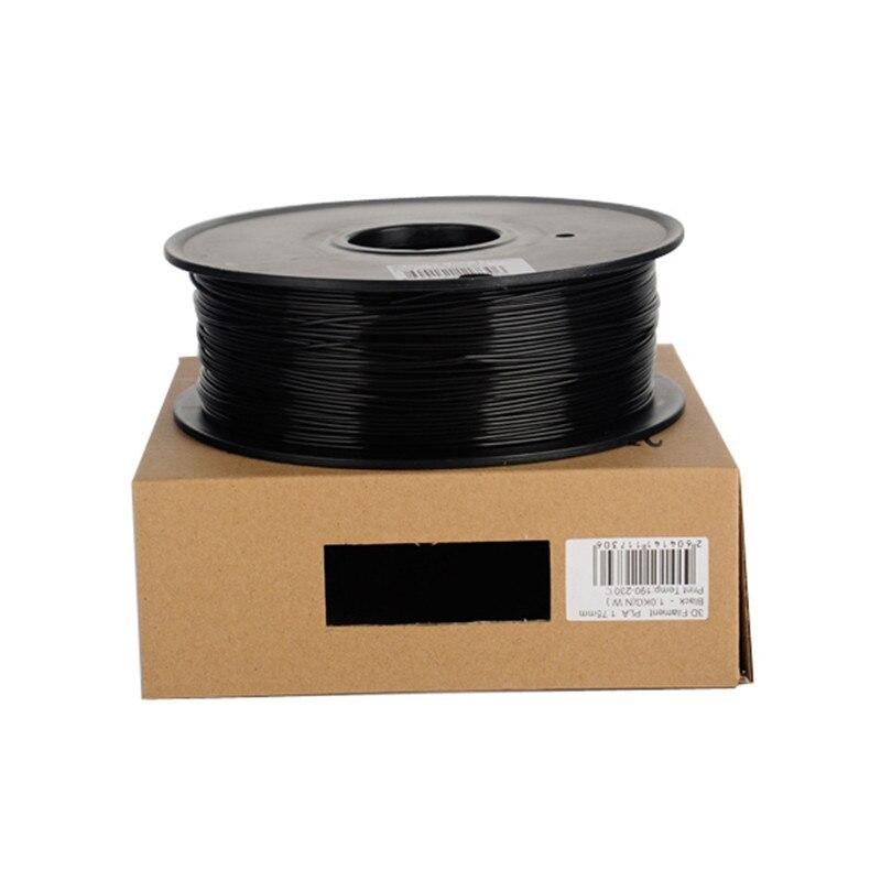 3d Printing Materials 7 cores 1 kg abs Color : Black Red White Blue Orange Sliver Pink