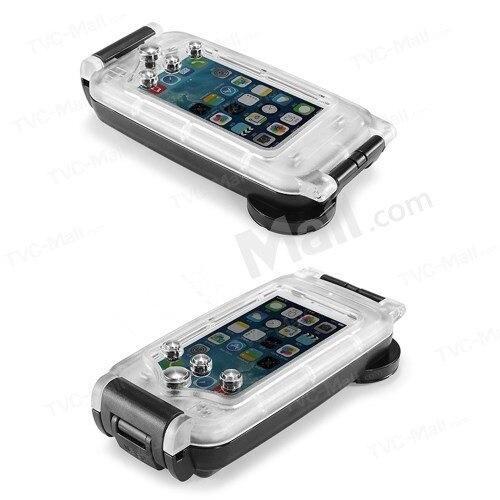 """Цена за Прозрачный и Черный 40 м Глубина Погружения Воды Крышка Для Apple iPhone 6 4.7 """"Водонепроницаемый Подводный бокс Чехол Для Телефона нержавеющая"""
