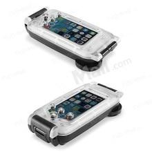 Прозрачный и Черный 40 м Глубина Погружения Воды Крышка Для Apple iPhone 6 4.7 «Водонепроницаемый Подводный бокс Чехол Для Телефона нержавеющая