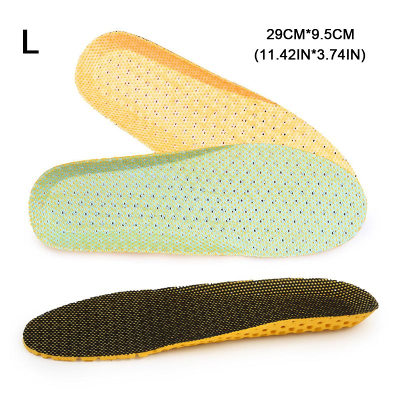 1 Pair Shoe Pads Insoles EVA Soft Breathable Sport Shoes Deodorant Insole Running Cushion Insert Pad Pain Relief 35-46 Accessory socomfy breathable eva sports insoles men and women light soft sport running shoe pad relief pain shock absorption insole