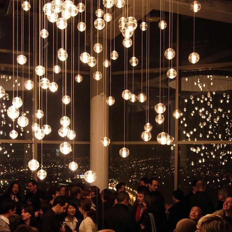 multi pendant lighting. aliexpresscom buy modern led crystal pendant lamp multi light linear suspension bubble ball lights stairwell lamps from lighting r