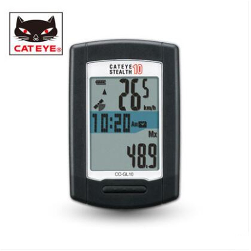 Cateye Furtif 10 CC GL10 GPS Noir VTT Montagne De Bicyclette De Vélo Ordinateur dans Ordinateur à vélo de Sports et loisirs