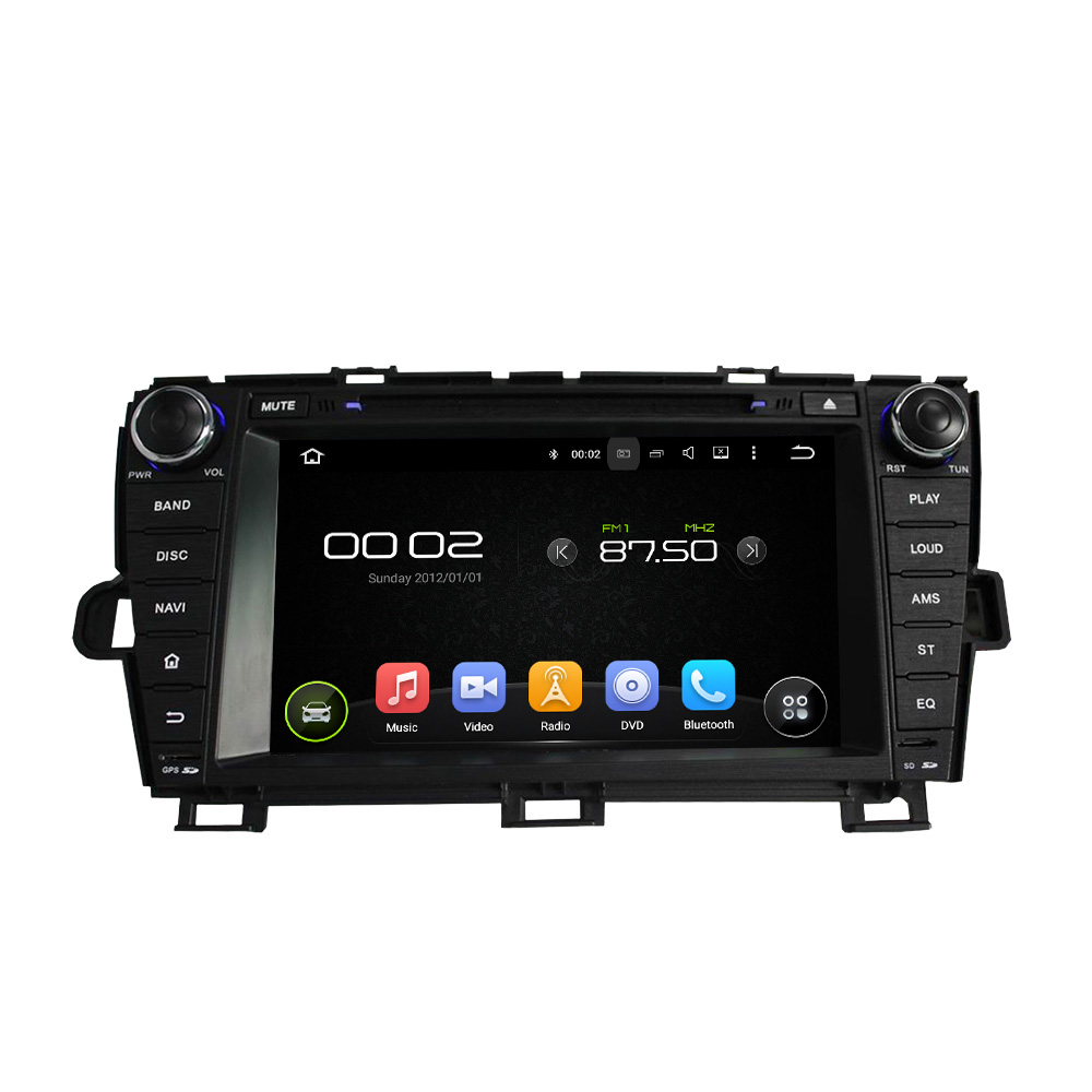 Android 8.0 octa core 4GB RAM car dvd player for TOYOTA PRIUS 2009-2013 LHD ips touch screen head units tape recorder radio