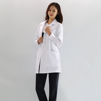 Long length long sleeve uniform uniform for dentists in beauty salon