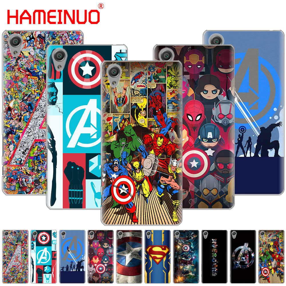 HAMEINUO The Avengers Của Marvel Captain America Trường Hợp đối với sony xperia C6 XA1 XA2 XA ULTRA X XP L1 L2 X XZ1 nhỏ gọn XR/XZ CAO CẤP