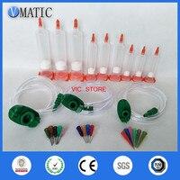 Free Shipping Glue Liquid Dispenser Dispensing Adhesive Pneumatic 5/10/30cc Syringe Barrel Adapter With Piston Stopper & Needles