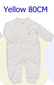Комбинезоны для маленьких мальчиков и девочек, коллекция года, Одежда для новорожденных и малышей, детский хлопковый комбинезон с длинными рукавами, Красивый хлопковый комбинезон унисекс - Цвет: 80CM YELLOW