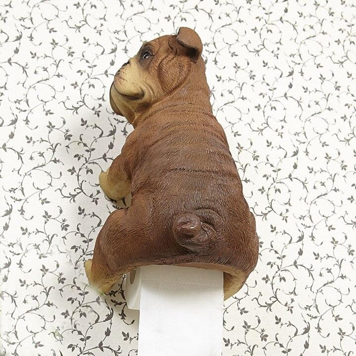 L размер 3D Бумажная вешалка для полотенец туалетная бумага держатель туалетная бумага коробка полки ванная комната настенный Смола собака ...