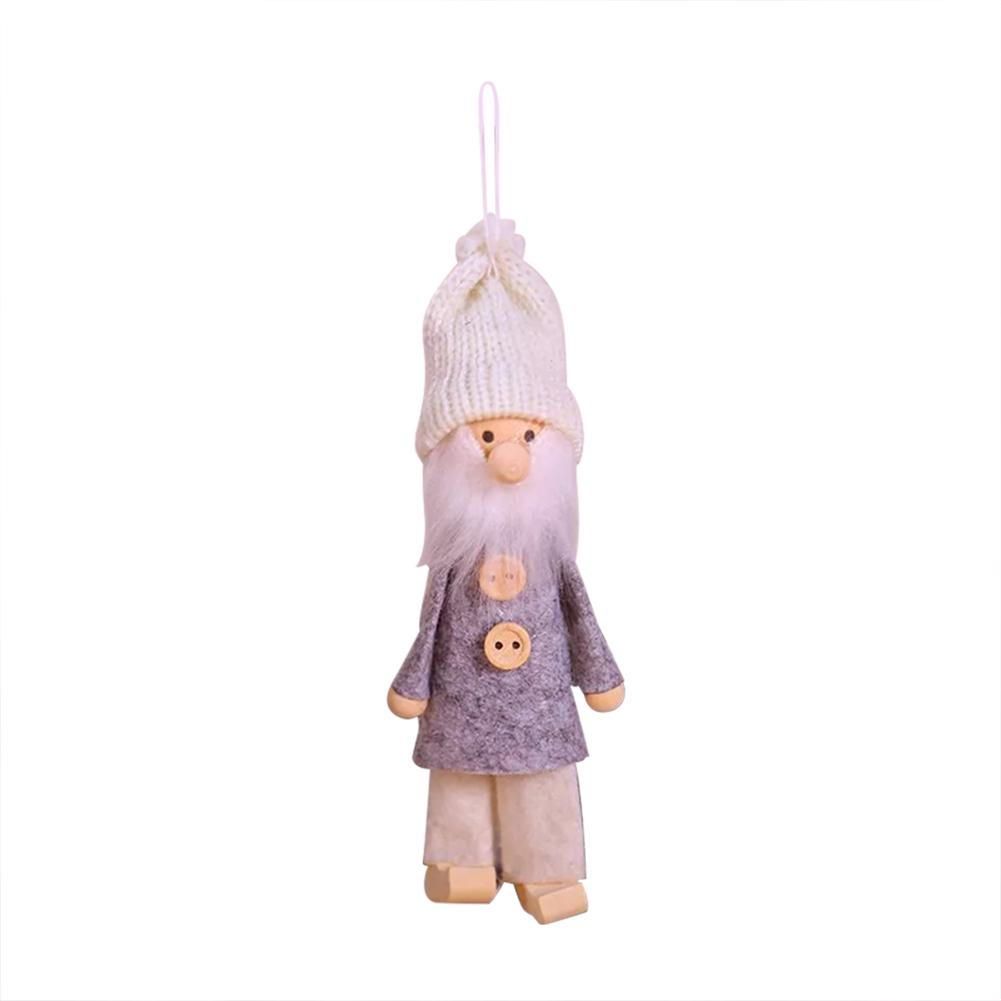 Santa Claus No Face Plush Dolls Christmas Ornaments Merry Christmas Favor Party Decorations for Home New Year Gift in Pendant Drop Ornaments from Home Garden