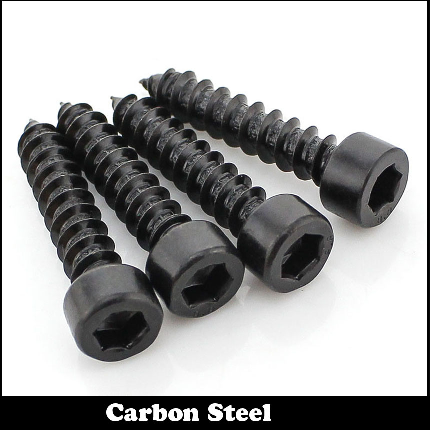 20pcs M5 50mm M5*50 Inner Hex Hexagon Socket Self Tapping 8 Grade Carbon Steel Black Model Screw 50 5