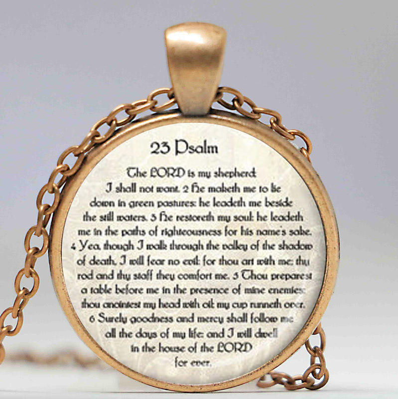 23. PSALM SCHMUCK Schrift Halskette Psalm 23 Halskette Bibel Vers - Modeschmuck - Foto 4