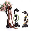 3pcs NEW Shape Dragon Wood Necklace & Pendant & Bracelet Holder Stand Ring Organizer  Wood  Jewellery/Stand