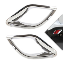 DWCX 2Pcs Car styling Chrome Rear Fog Lights Lamp Mask Cover Trim for Mazda CX-5 CX5 2012 2013 2014 +