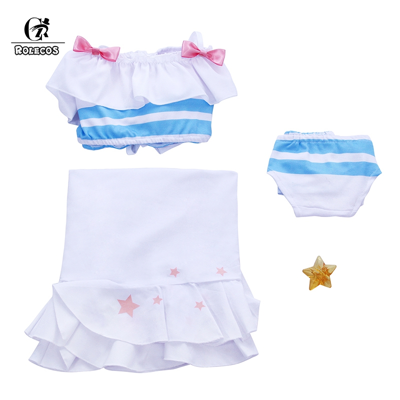 ROLECOS Fate Astolfo Cosplay Costume Game Apocrypha Swimsuit FGO Cosplay Women Costume Girl Swimsuit Fate Grand Order Bikini