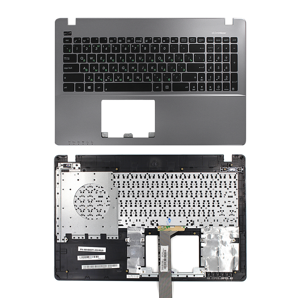 Russia laptop keyboard For ASUS X550 X550C X550CA X550CC X550CL X550J X550JD  WITH COVER C Silver Grey COVER US Engraved to Ru for asus mp 09h63us 528 0kn0 ei1us0212463002413 laptop keyboard