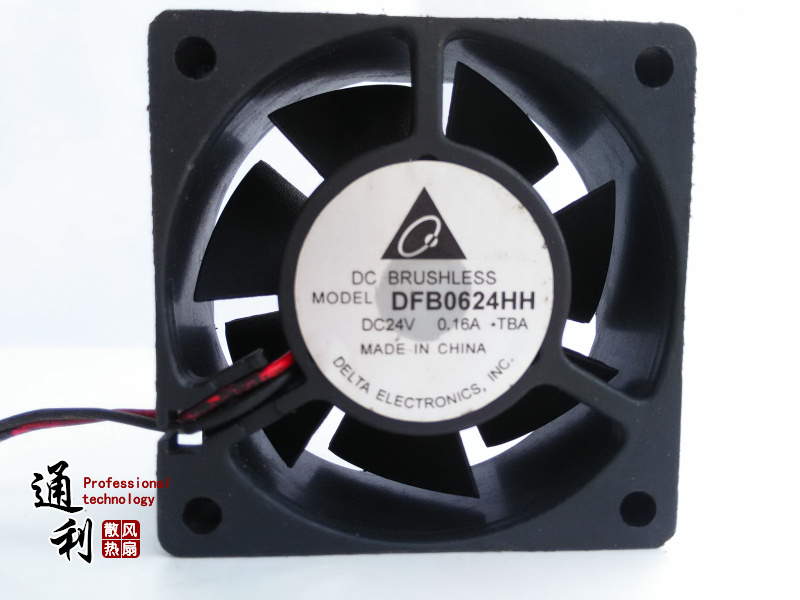 Delta Electronics DFB0624HH -TBA Server Square Fan DC 24V 0.16A 60x60x25mm 2-wire