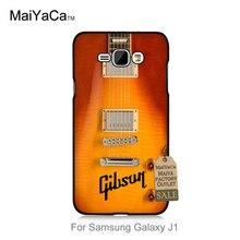 Diy painted schöne telefon zubehör für galaxy j1 2015 fall gibson guitar american music les paul akustische sonnenbrand