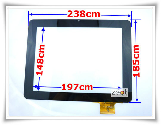 9.7 9.7Inch Capacitive Touch Screen Digitizer Glass Replacement for Sanei Tablet PC N90 / AMPE A90 KNC MD902 TPC0161 10 1 inch capacitive touch screen panel digitizer glass replacement for goclever aries 101 tablet pc