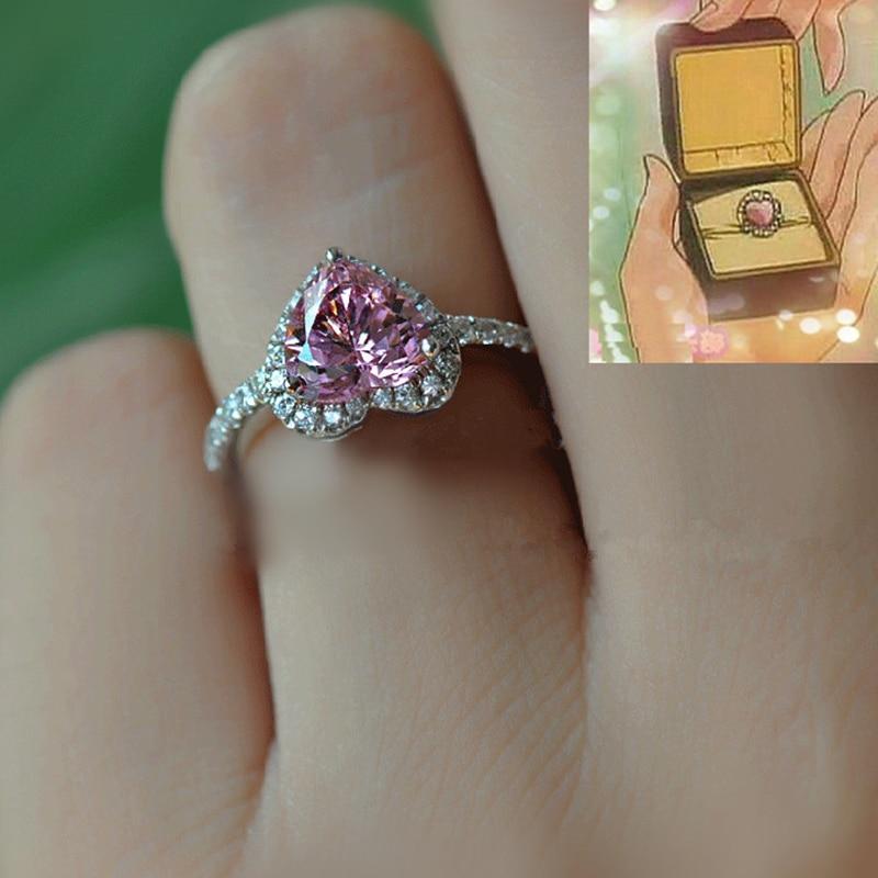 Bahamut Japanese Anime Sailor Moon Tsukino Usagi Chiba Mamoru Engagement Ring 925 Silver Finger Ring for Girl Women Romantic недорго, оригинальная цена