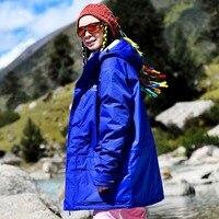 Профессиональная Лыжная куртка Для женщин ветрозащитный Водонепроницаемый зима теплая спортивная Зимняя одежда для малышек сноуборд курт