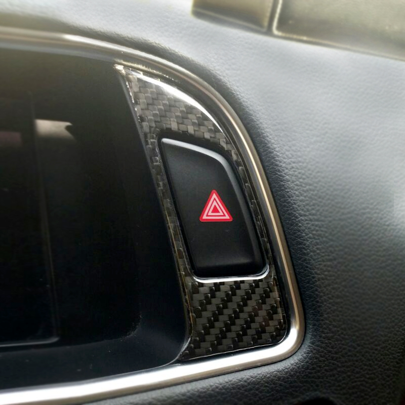 For Audi Q5 2009 2010 2011 2012 2013 2014 2015 2016 2017 Carbon Fiber Car Navigation Dashboard Panel Warning Light Cover-in Interior Mouldings from Automobiles & Motorcycles