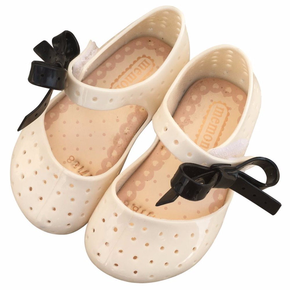 Mini Melissa Children Fashion Kids Casual Cute Princess Hollow Bow Rivets Beach Sneaker Clogs Mules Girls Jelly Shoes Sandals
