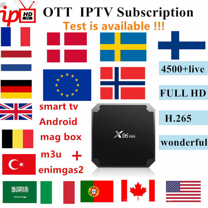 French IPTV Europe Arabic Sweden Norway Netherland Germany Italy Turkey UK USA Canada H.265 HD m3u android enigmas2 smart tv
