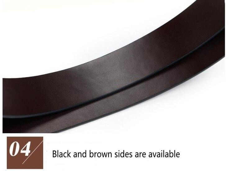 Ремни из натуральной воловьей кожи для мужчин, роскошный брендовый мужской ремень с поворотной пряжкой, винтажный джинсовый ремень, длина талии 110-130 см