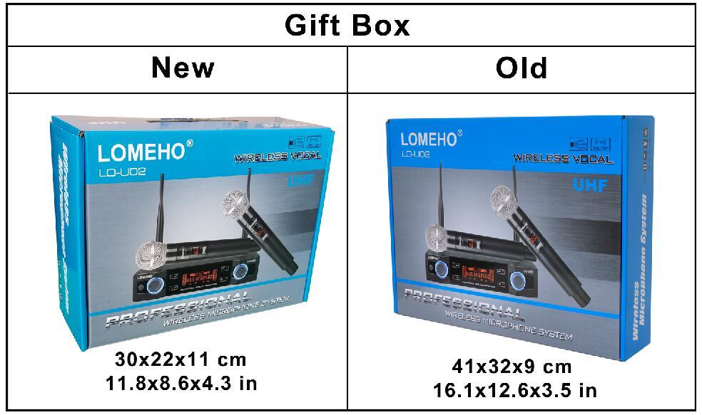 Lomeho LO-U02 2 fréquences UHF portables Capsule dynamique 2 canaux Microphone sans fil pour système karaoké - 6