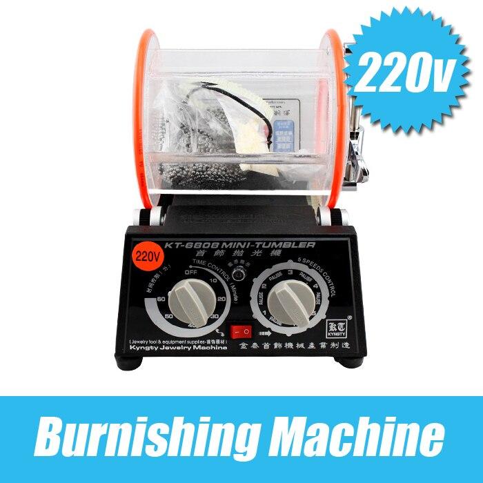 Promotion!! Professional 220V Mini Tumbler Rotary Tumbler Jewelry Polisher Finisher Machine With Free Polishing Bead