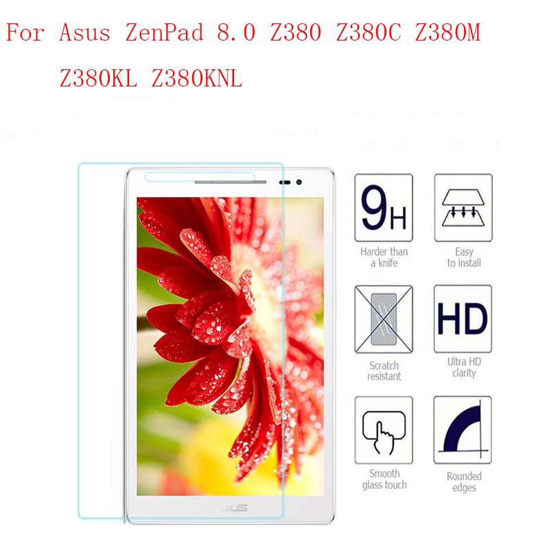 9H Tempered Glass For Asus ZenPad 8.0 Z380 Z380C Z380M Z380KL Screen Protector 8 Inch Tablet Protective Glass Film Guard Premium