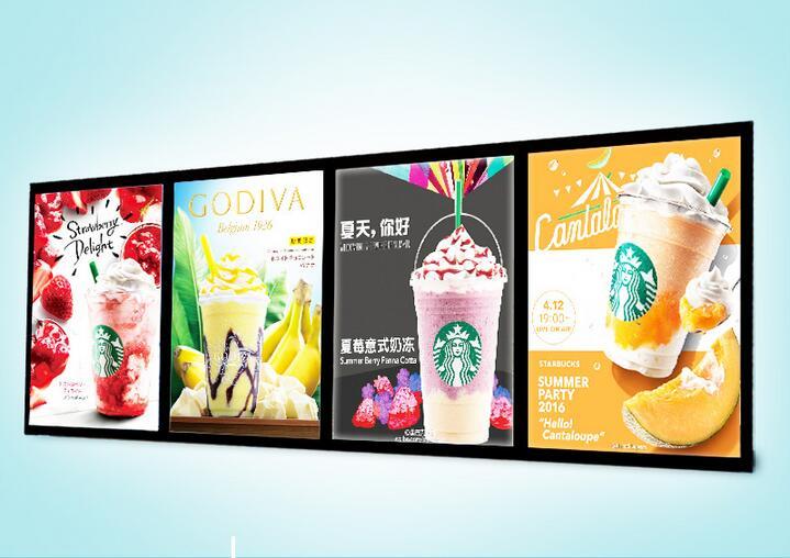 (4 графика/колонки) Магнитная меню Рамки светодиодный рекламный свет Коробки, светодиодные табло магазин, реклама оснастки Рамки LED Кофе зна