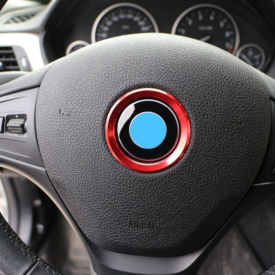 1 Piece Steering Wheel Decoration Circle Cover Sticker For BMW X1 E60 E36 E39 E46 E30 E60 E90 E92 F10 F30 F25 Car Accessories cool car auto decoration badge stickers m logo metal 3d car sticker for bmw m3 m5 x1 x3 x5 x6 e36 e39 e46 e30 e60 e92 all model