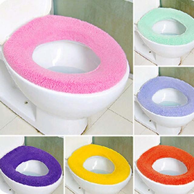 1 PZ Colore Della Caramella Coperchio Wc Sedile Coperchio Pad Morbido Warmer Bag