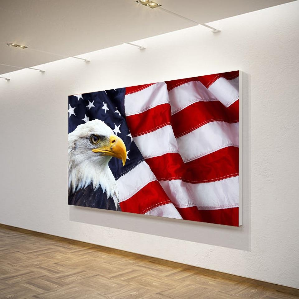 1 Teile/satz Gerahmte HD Gedruckt Amerikanische Flagge ...