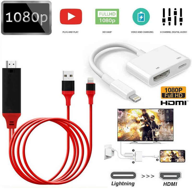2019 NUOVO Arrivo Professionale Cavo Dell'adattatore di HDMI per Apple Interfaccia 8Pin a HDMI Digital AV Converter per iPad iPhone iOS 11 10
