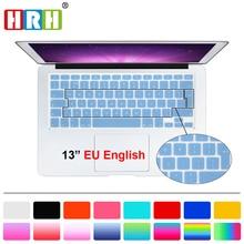 HRH Silicone UK EU English Keyboard Cover skin Protector Sticker Film For Macbook White Air