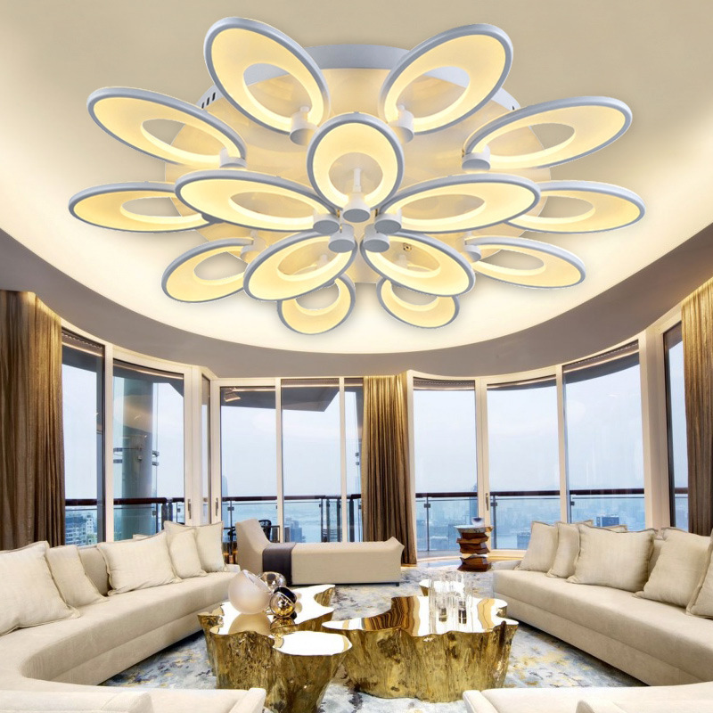 Simple atmosphere LED large living room ceiling light creative flower shaped lamp personality art light romantic bedroom light