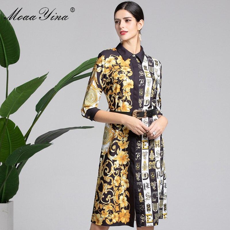 Élégante Moaayina Fashion Designer D'impression D'été Noir De BQdCshxtr