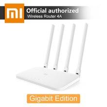 Xiaomi wifi roteador 4a gigabit edição 2.4g 5 ghz 16 mb rom 128 mb ddr3 dupla banda 1167 mbps wifi repetidor suporte ipv6 controle de aplicativo