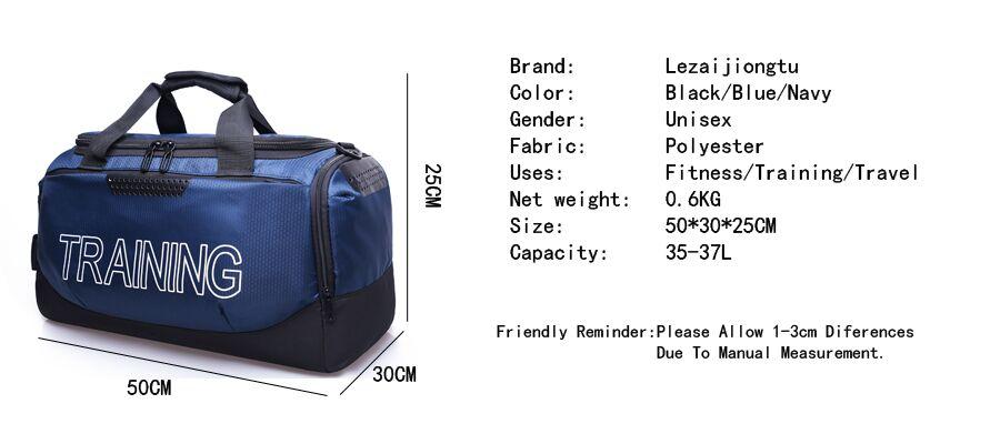 Большая емкость высокого качества спортивная сумка черный Фитнес Спортивная  сумка Водонепроницаемый Прочный Дорожная сумка тренировочная сумка 5ffa1f93ce1