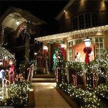 Светодиодный Сказочный светильник ECLH, водонепроницаемый, переменный ток, 220 В, ЕС, 10 м, 20 м, 30 м, 50 м, 100 м, светодиодный, Рождественский, для дома, для улицы, для украшения праздника