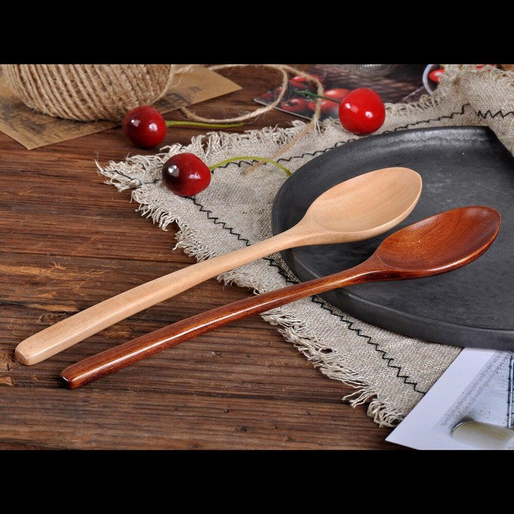 Populair Merk Koffielepel Houten Lepel Keuken Kookgerei Tool Soep Theelepel Bestek Geschikt Voor Keuken Bar Restaurant L0422 Superieure Materialen