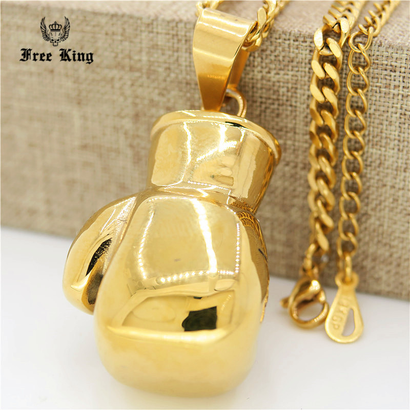 Casting stainless steel gold boxing glove pendant necklace mens casting stainless steel gold boxing glove pendant necklace mens birthday gifts hip hop cuban chain necklace in pendant necklaces from jewelry accessories aloadofball