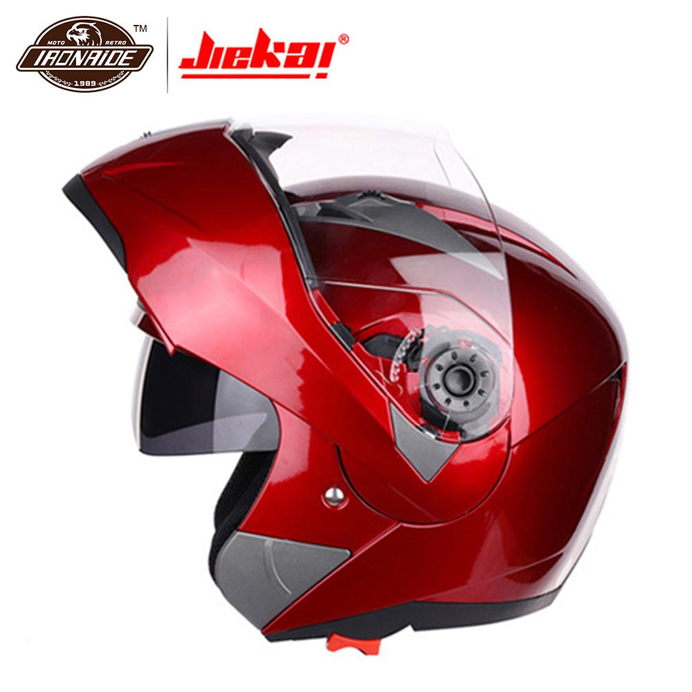 все цены на JIEKAI Motorcycle Helme Casco Moto Motocross Helmet Full Face Helmet Motorcycle Flip Up Visor Racing Modular Motorbike Riding