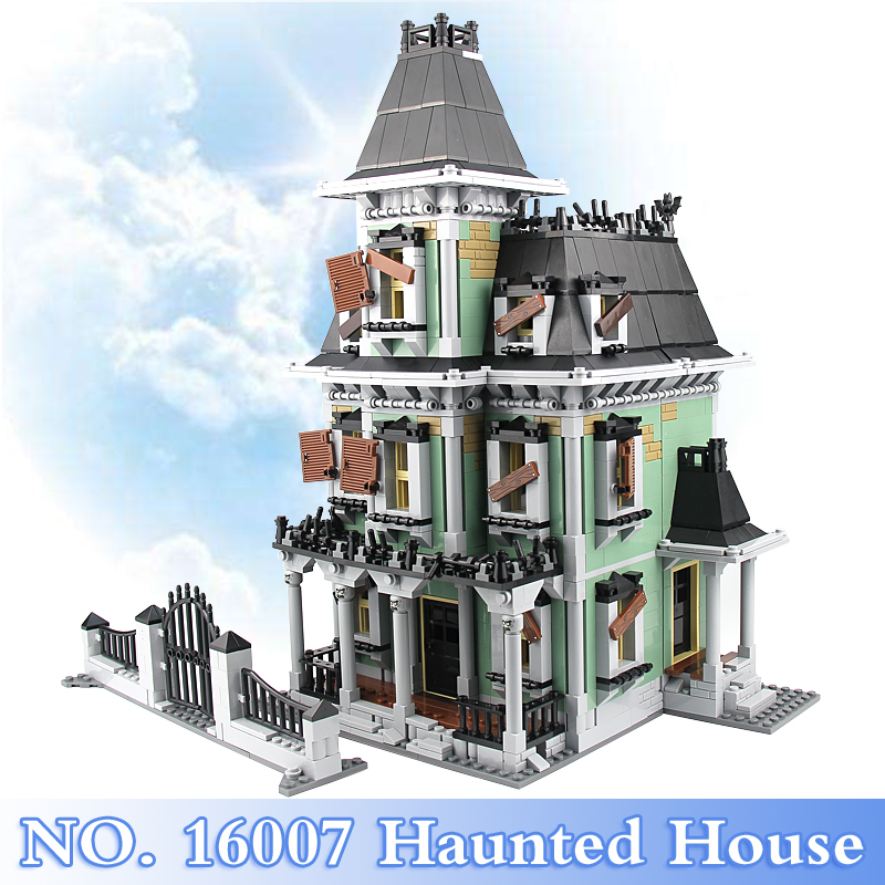 Lepin 16007 Monster Fighters Series 2141Pcs Haunted House Figures Building Blocks Bricks Set Toy Gift Model Kit Compatible 10228 2141pcs monster fighters haunted house vampyre castle 16007 model building blocks children gifts sets movie compatible with lego