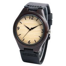 Men's Quartz Sport Wooden Case Women Watch Genuine Leather Wristwatch Relogio Feminino Lover's Watches Simple Arabic Numerals