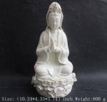 26 cm */ China dehua white porcelain goddess guanyin bodhisattva.