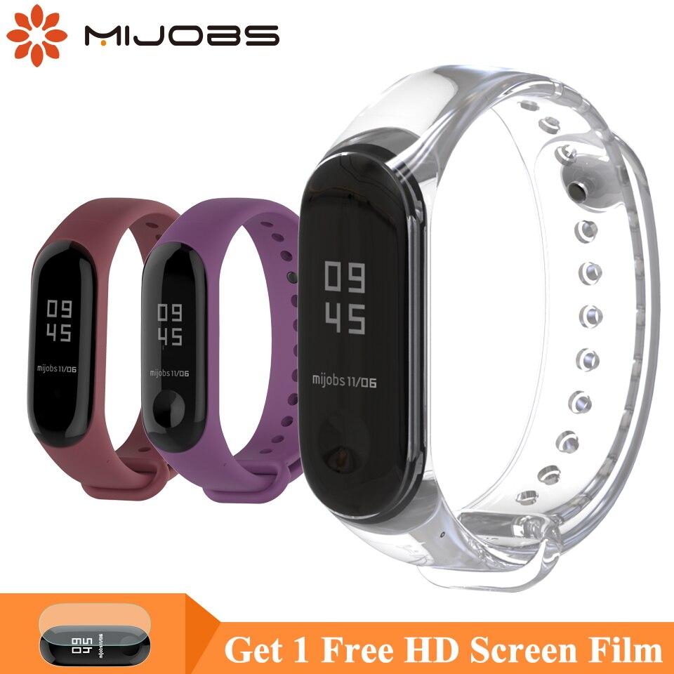 Mijobs Bracelet For Xiaomi Mi Band 3 Sports Strap Watch Silicone Wrist Strap For Xiaomi Mi Band 4 Accessories Miband 3 Strap