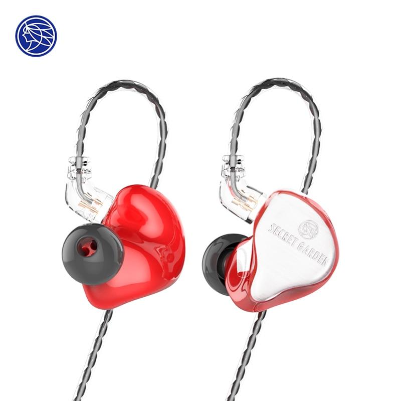 The Fragant Zither TFZ SECRET GARDEN In Ear HIFI Monitor IEM Sports Earphones 2Pin Headset Heavy